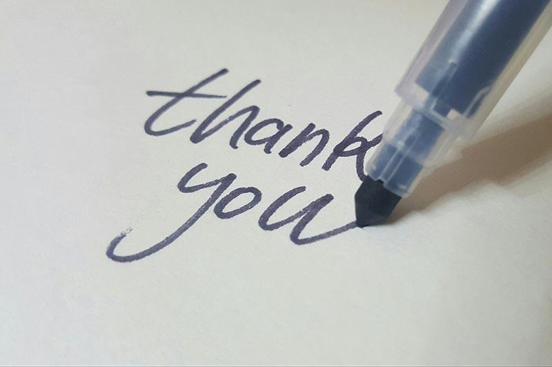 thanks your staff